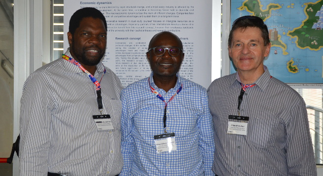 From left: Professor Maxwell Phiri, Dr Mfazo Cliford Madondo and Professor Brian McArthur.