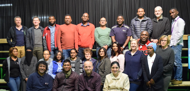 Professor Rupert Ward (seated, second right) with the students and staff who attended the seminar.